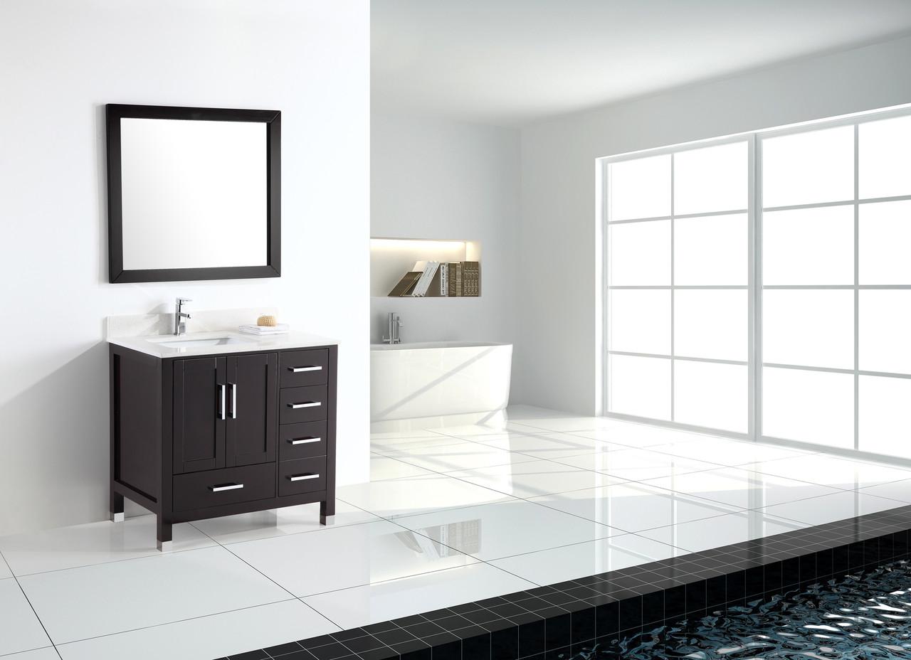Armada 42 Bathroom Vanity Espresso York Taps