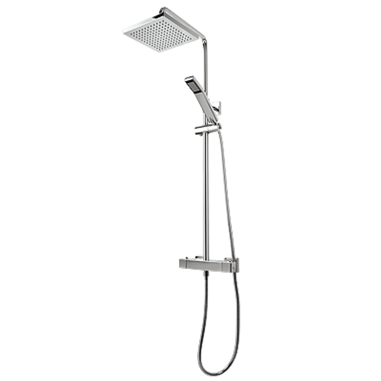 Picture of: Rubi Hana Thermostatic Exposed Shower System Chrome York Taps