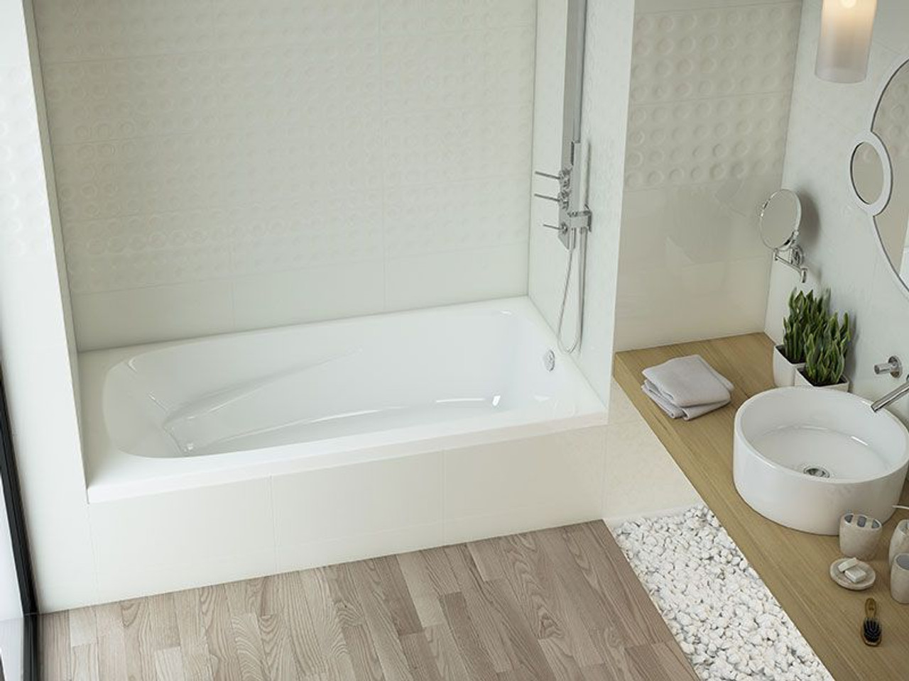"mirolin gryphon 3 alcove bath tub 72"" x 34"" x 20"" lh - york taps"