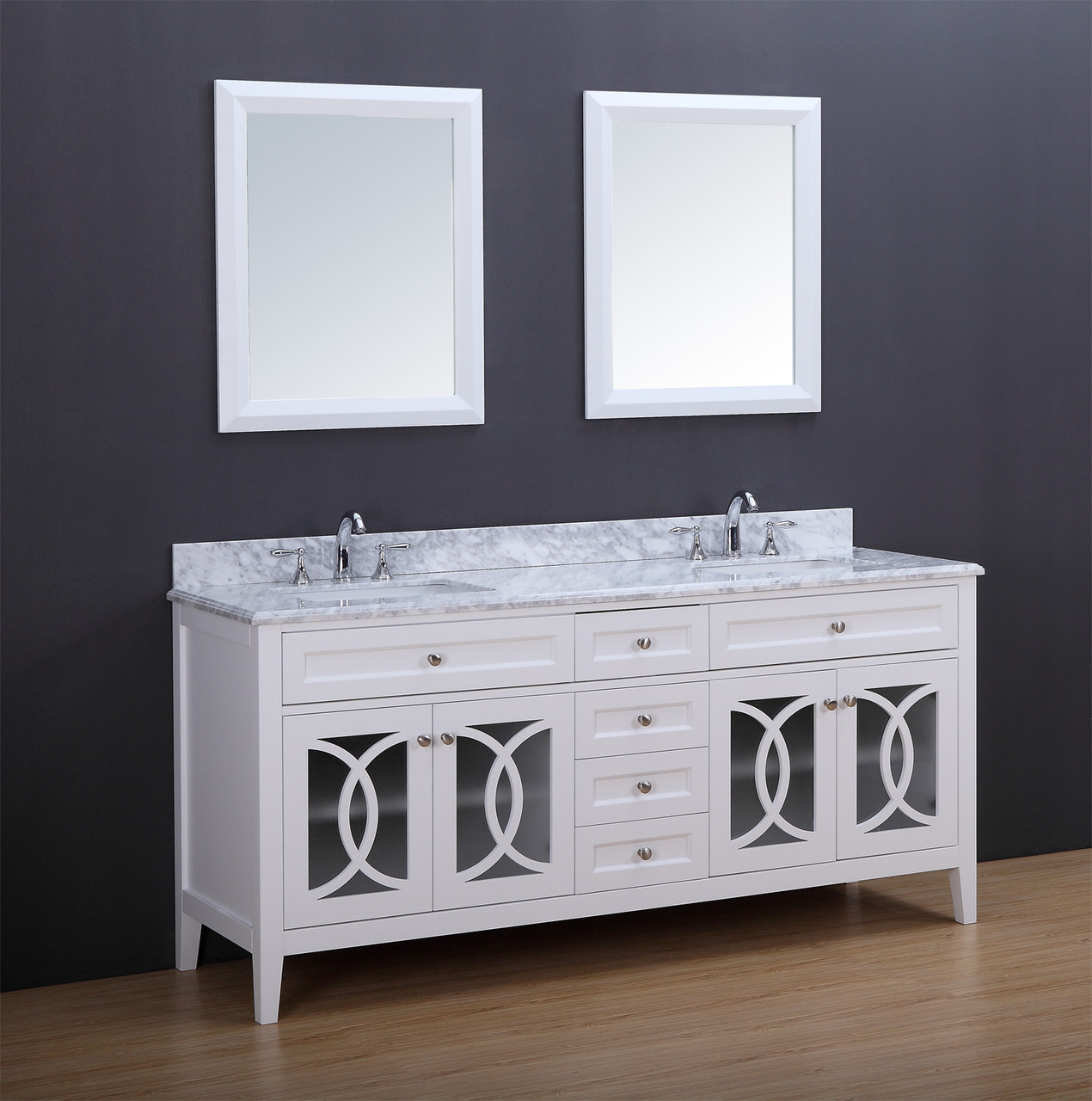 Casa 72 Double Sink Bathroom Vanity White