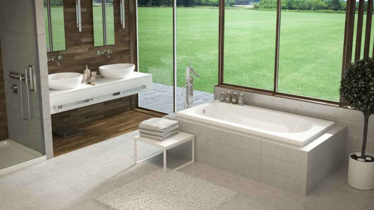 Mirolin Lux 66 X 34 Drop In Bath Tub York Taps