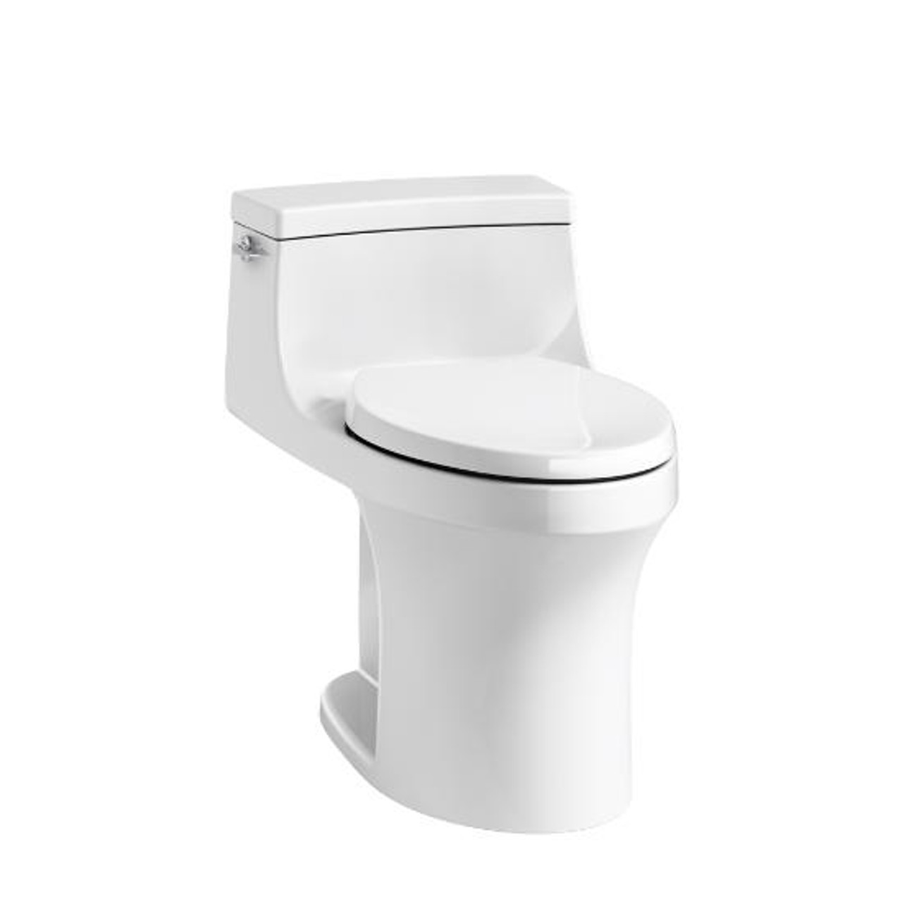 Kohler San Souci® Comfort Height® one-piece compact elongated 1 28 gpf  toilet with AquaPiston® flushing technology left-hand trip lever, concealed