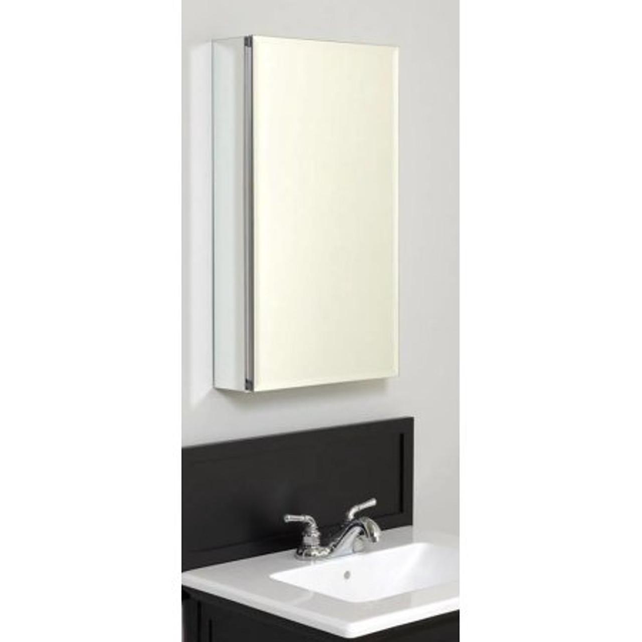 Picture of: Zenith Aluminum Beveled Mirror Medicine Cabinet 15 York Taps