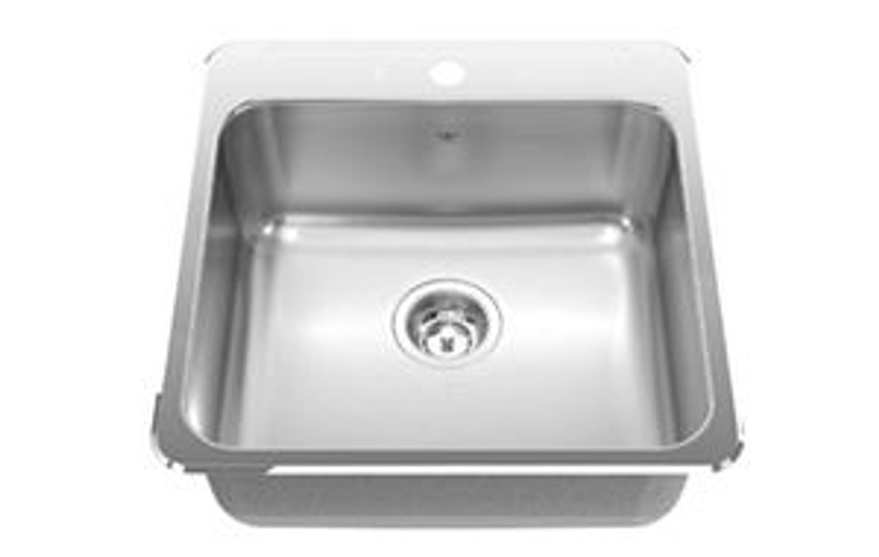 kindred qsl2020 8 1 8 inch deep single bowl laundry and utility sink in stainless steel 1 hole