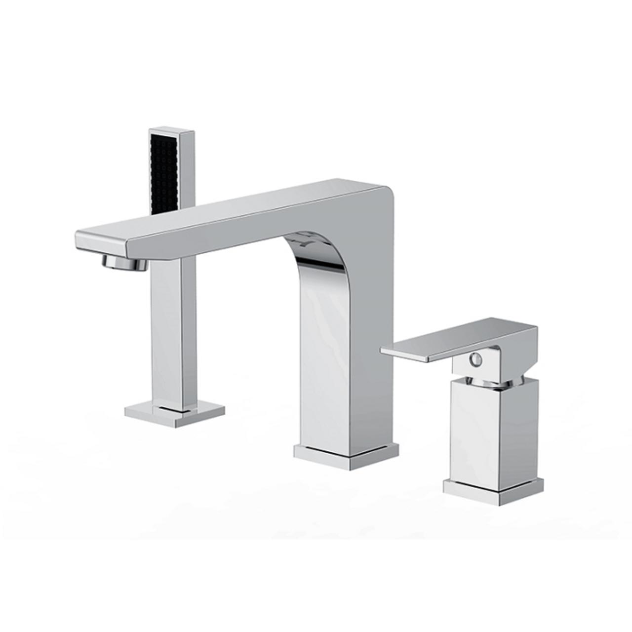 Royal Modern Roman Bath Brass Deck Mount Faucet With Hand Shower 3 - Roman-bathtub-for-royal-bath