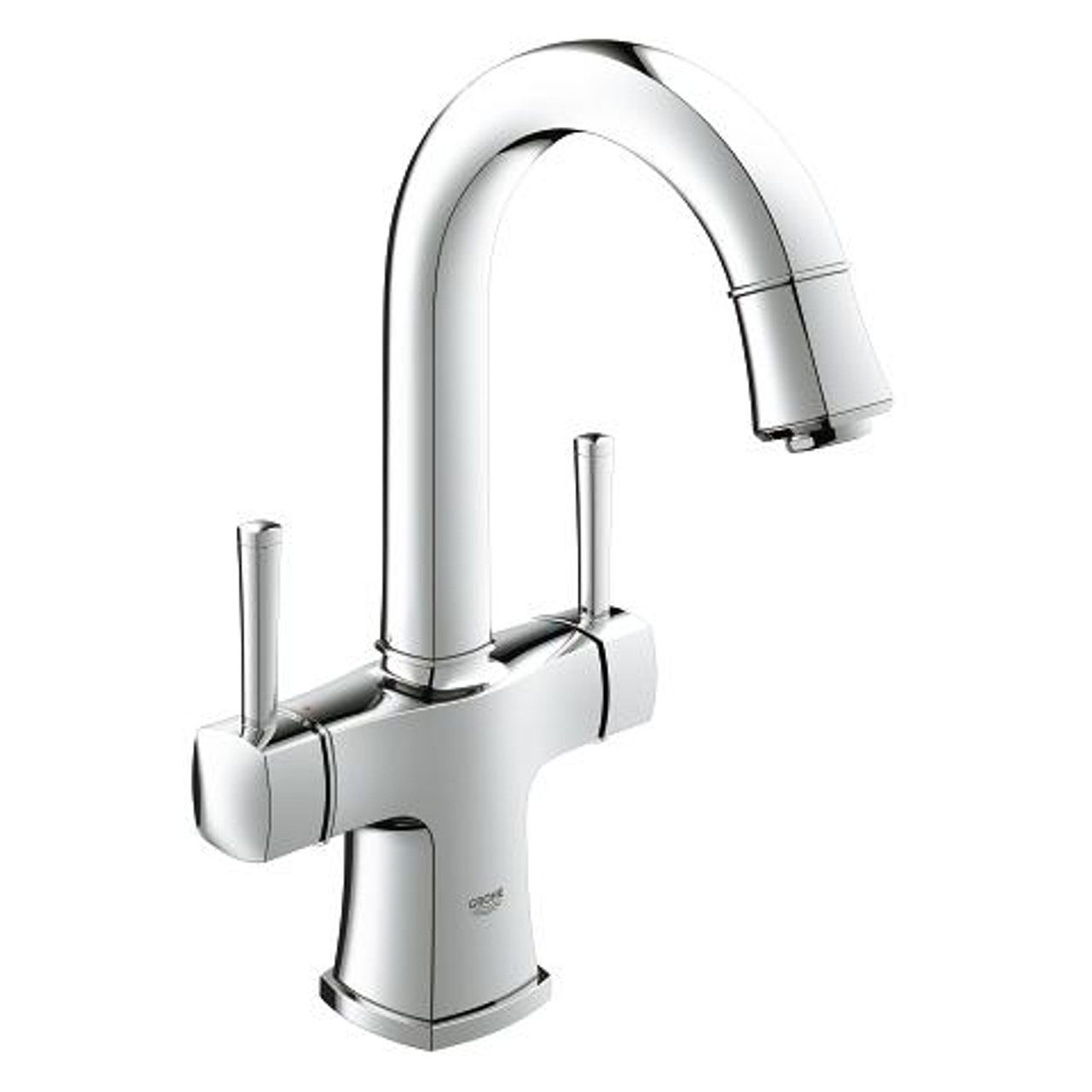 Grohe Grander Single Hole Two Handle Bathroom Faucet L Size Chrome