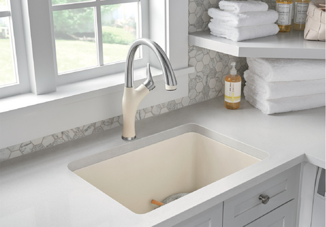 Blanco Artona Kitchen Faucet In Stainless Finish Biscuit York Taps