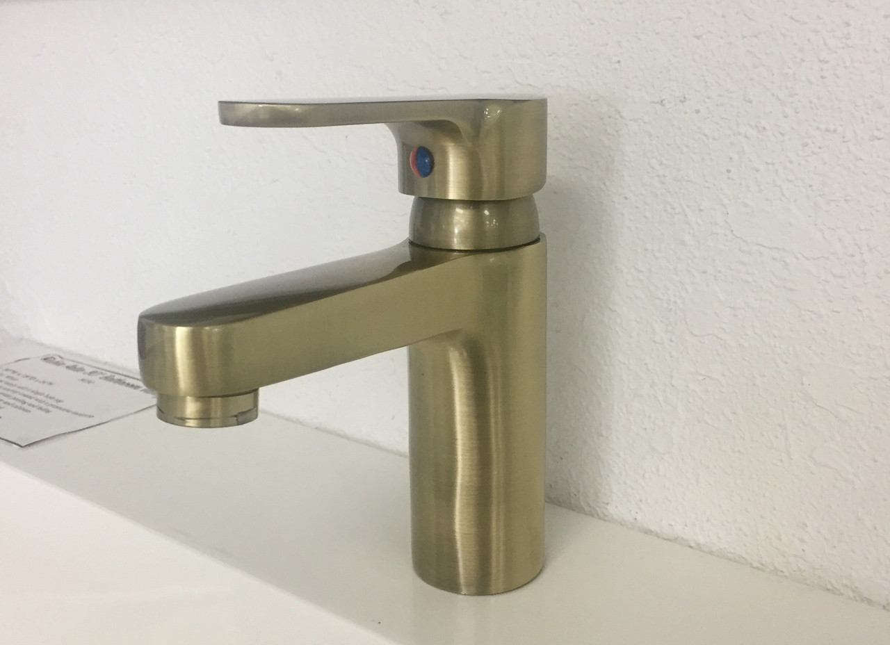 Lima bathroom faucet brushed antique brass