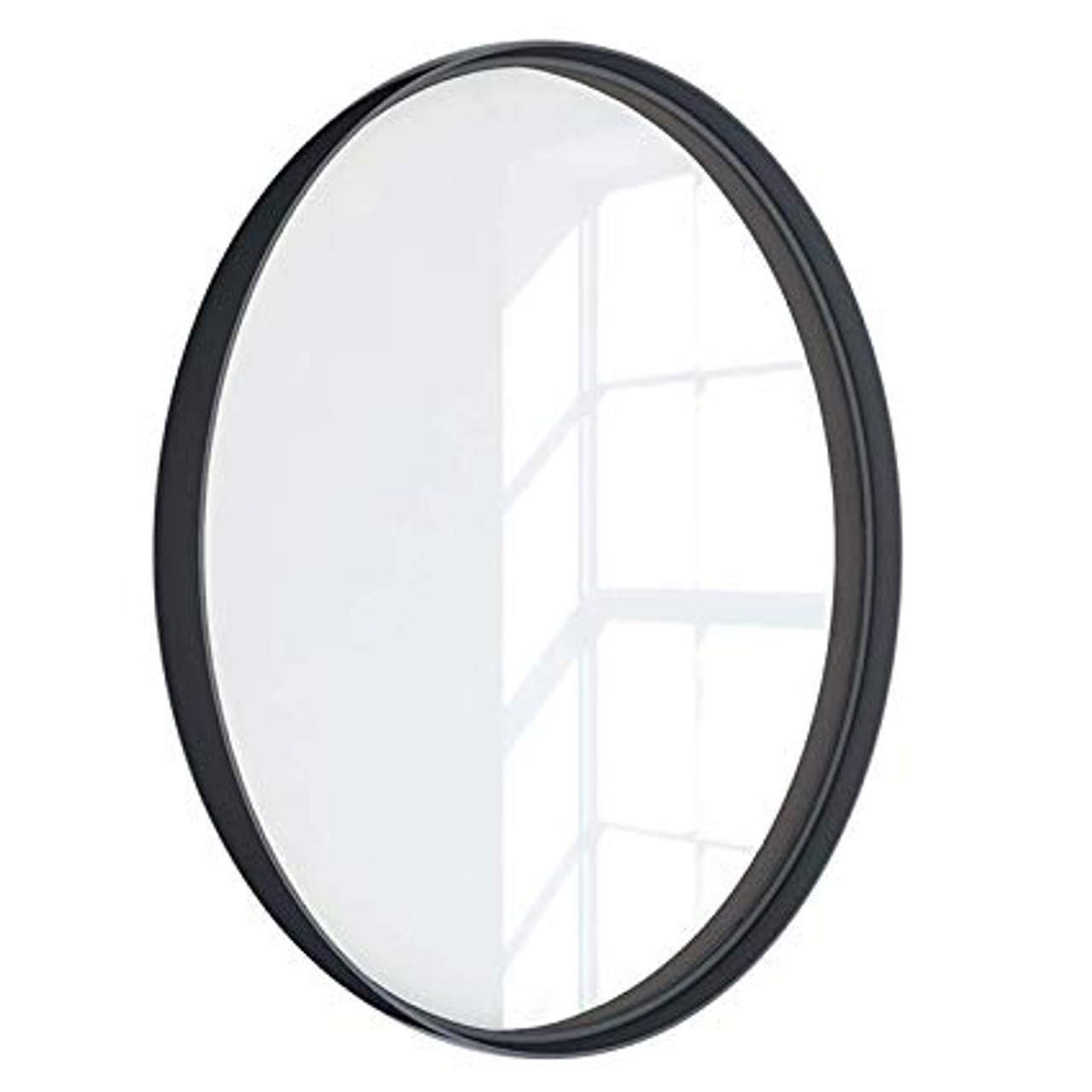 Kende 24 Round Metal Framed Mirror Black Diameter 24 York Taps