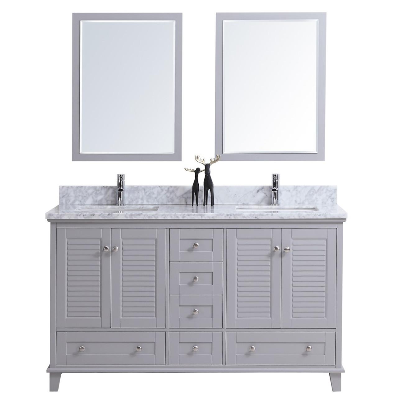 Niagara 60 Bathroom Vanity Double Sinks York Taps