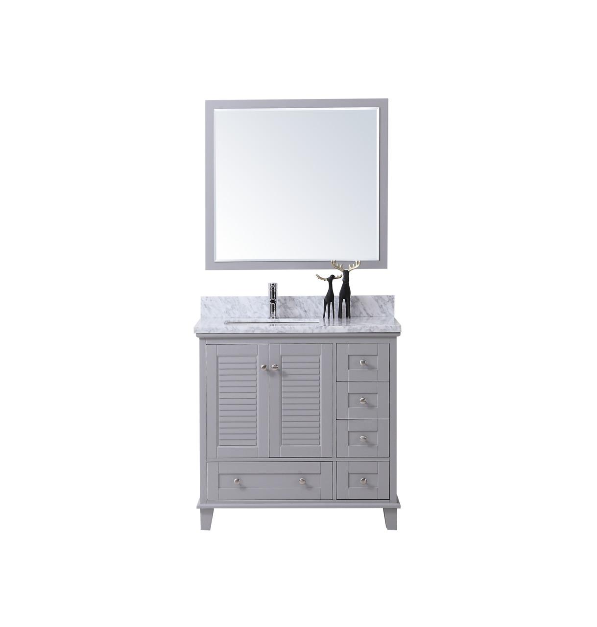 Niagara 42 Bathroom Vanity Light Grey York Taps