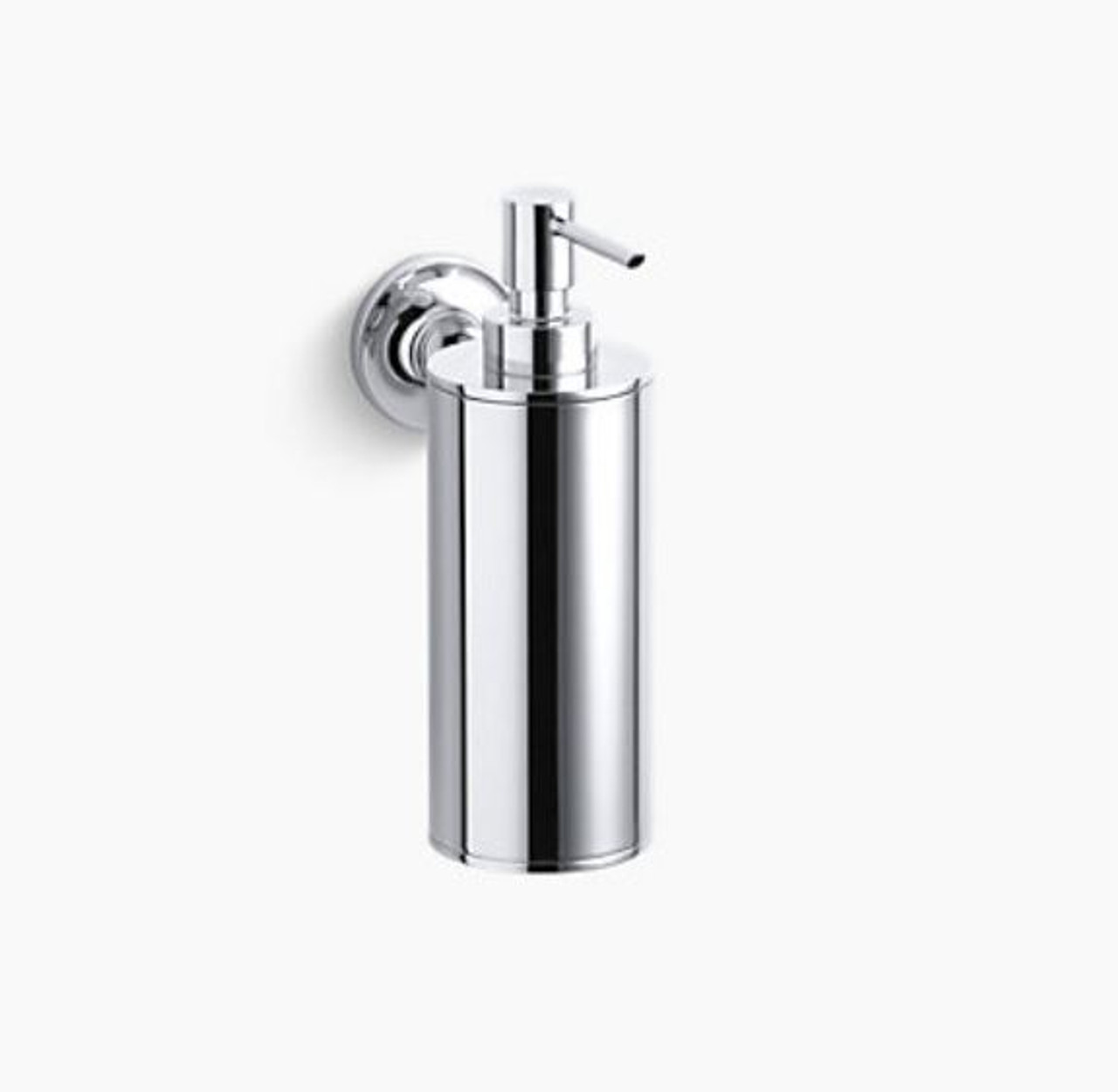 Kohler Purist Wall Mount Soap Lotion Dispenser Polished Chrome