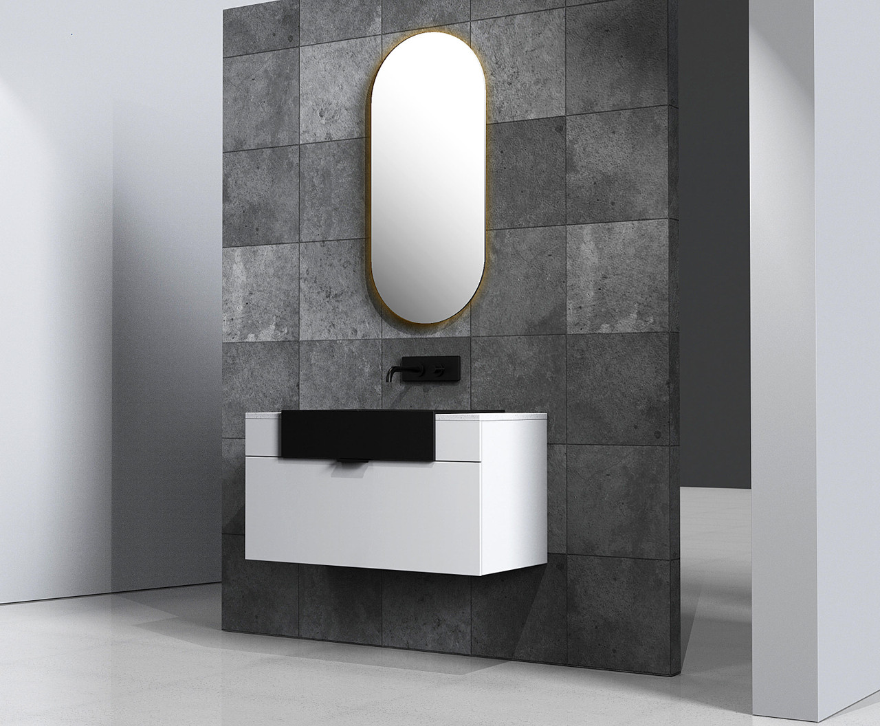 Victory 36 Wall Mounted Bathroom Vanity