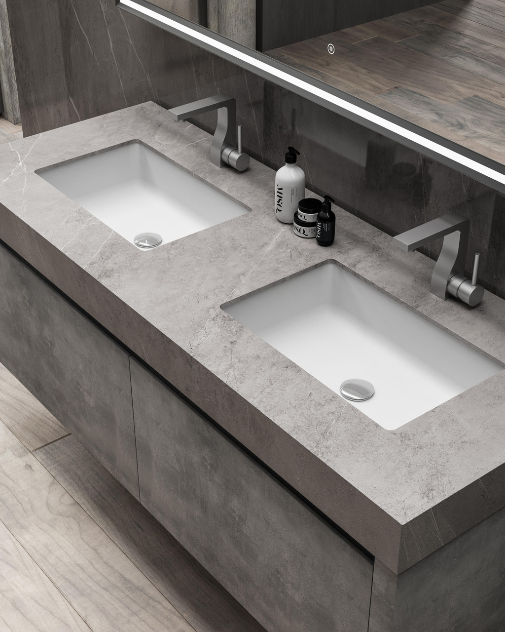 Capri Modern Wall Mounted Bathroom Vanity 63 York Taps