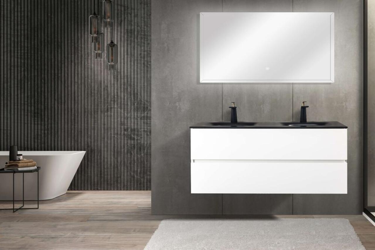 Emily 67 Double Sink Wall Mount Bathroom Vanity