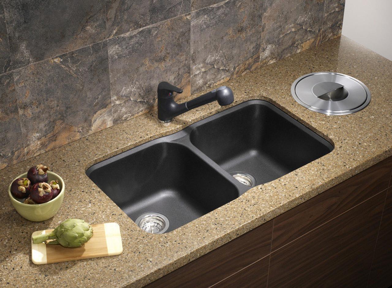 Blanco Vision U 2 Bowl Undermount Silgranit Sink 30 5 Quot W