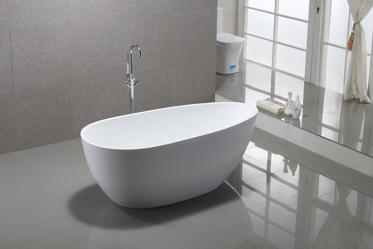"hermon 59"" free standing bath tub - york taps"