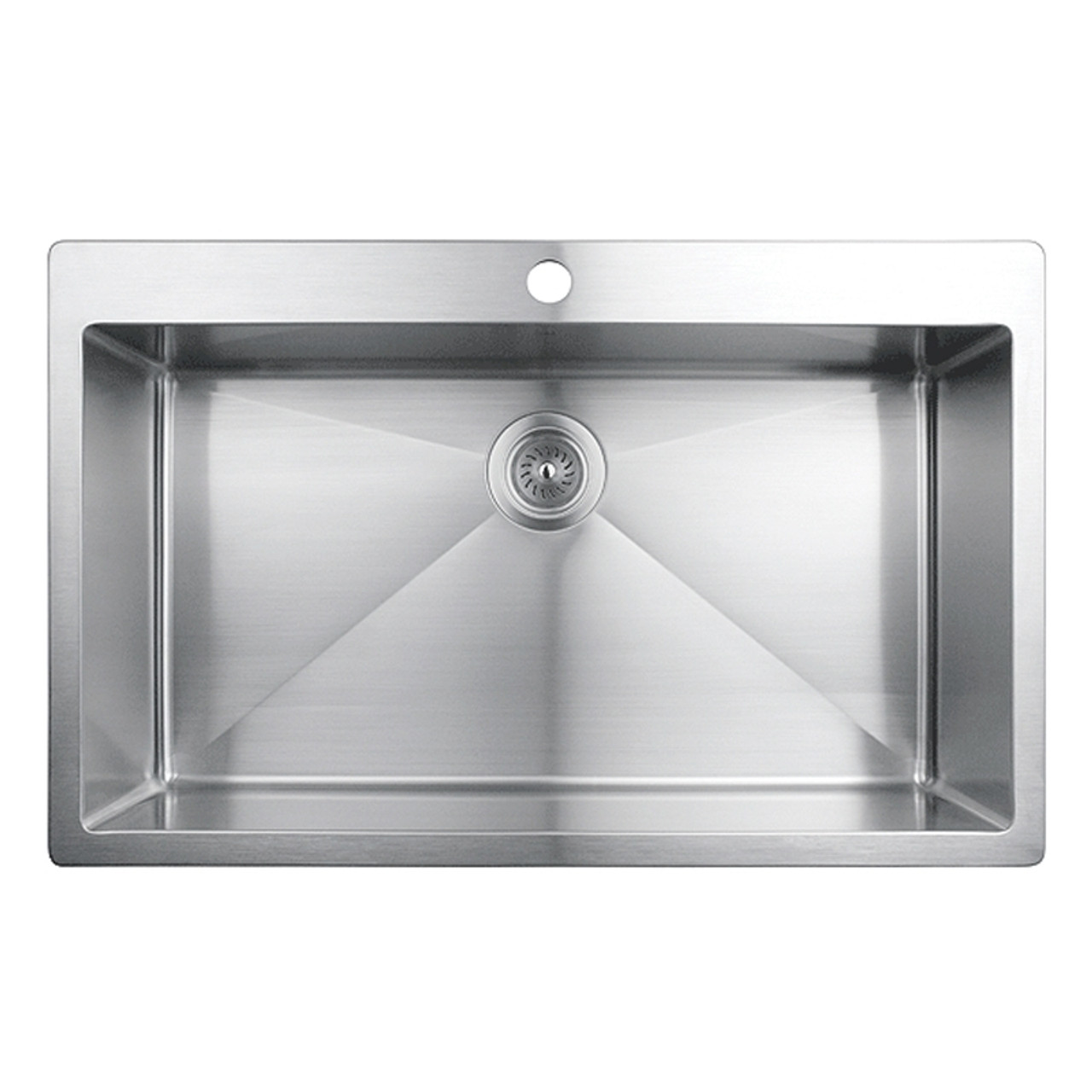 Rubi Muscat Drop In Single Bowl Kitchen Sink With Rounded Corners