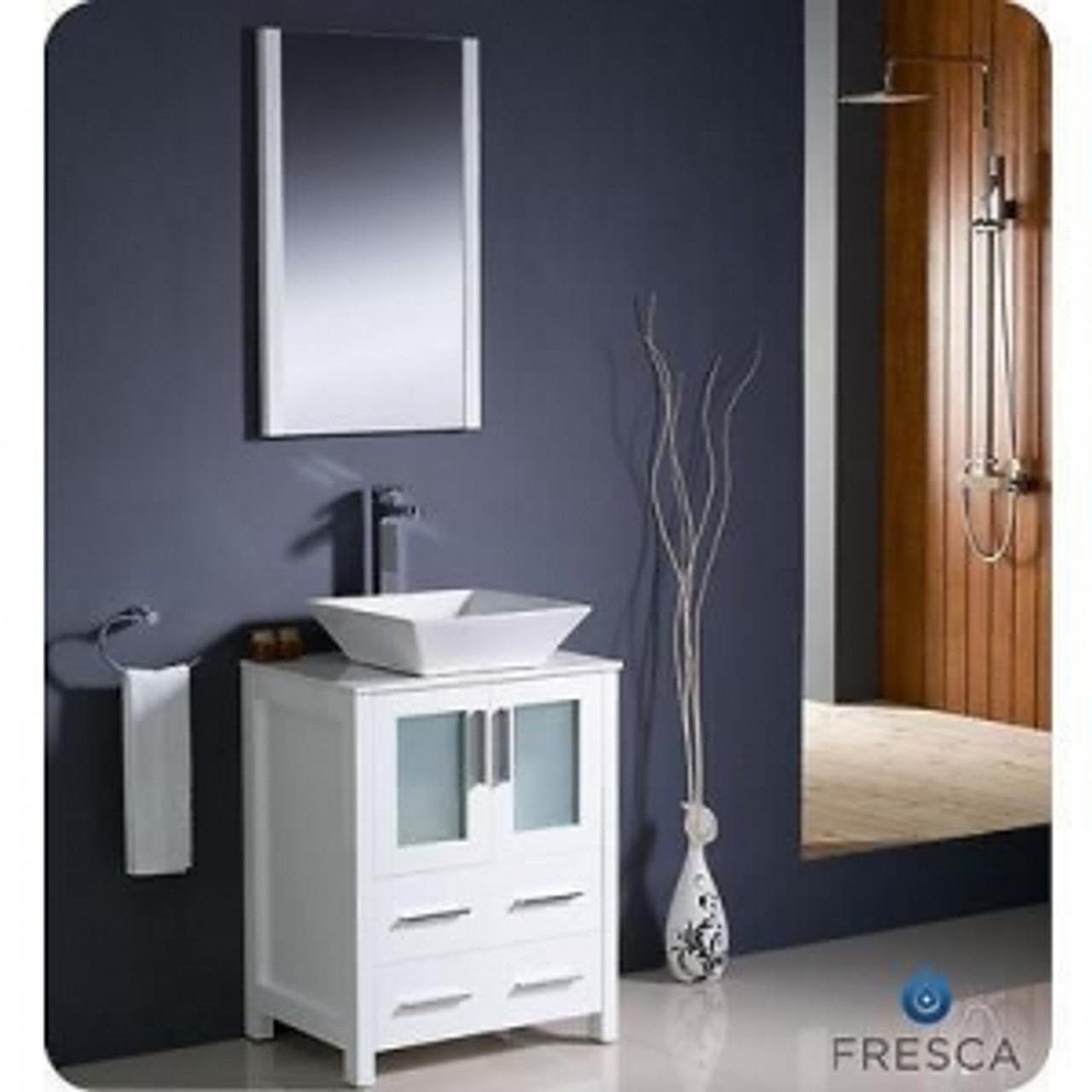 Vaughn 24 Bathroom Vanity White Without Top York Taps