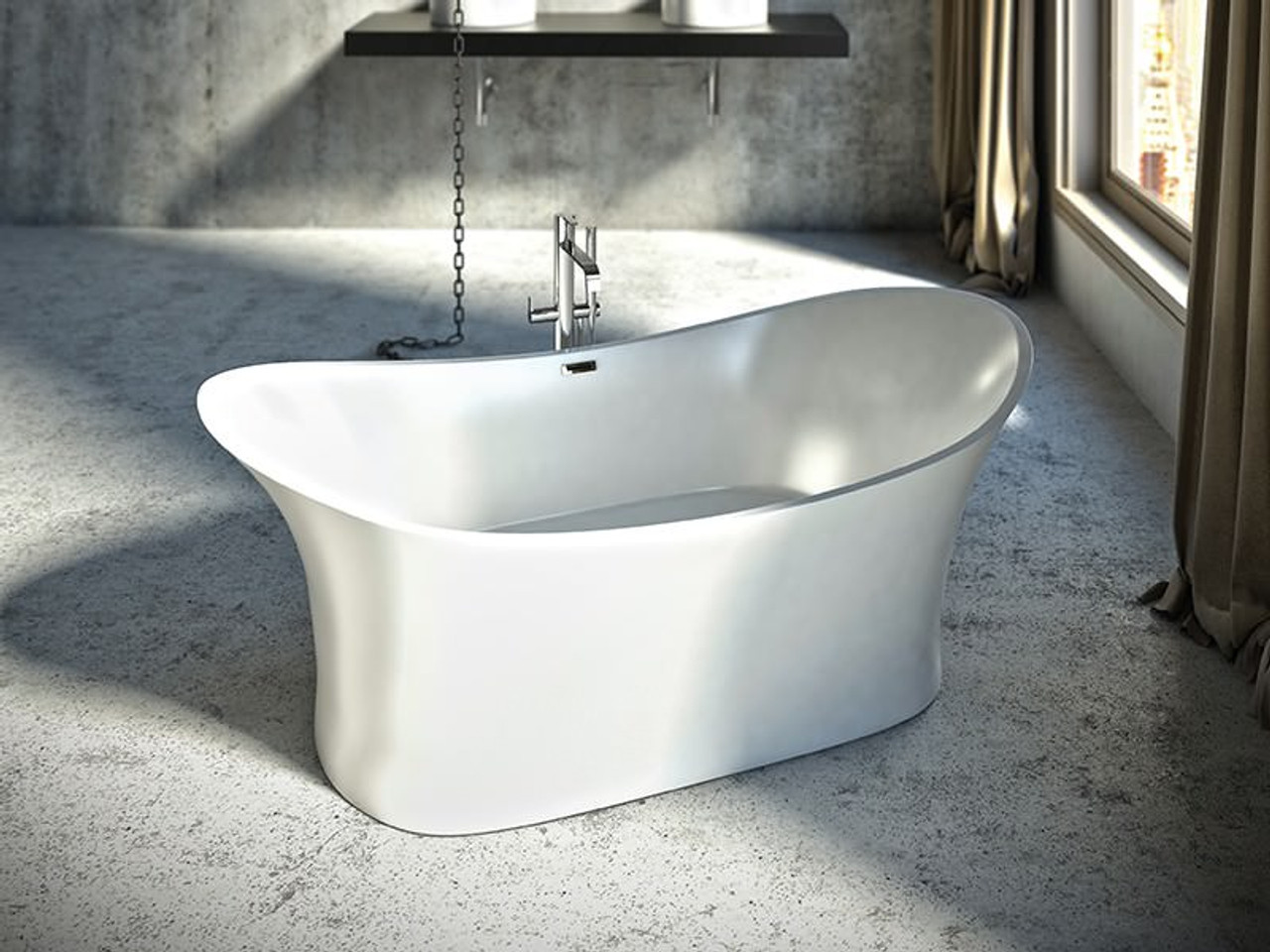 "mirolin sussex freestanding bath tub 71"" - york taps"