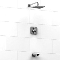 Riobel ressure balance tub shower with diverter and service stops
