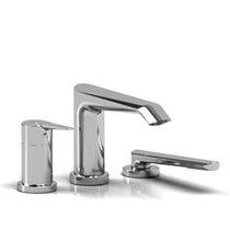 Riobel Venty 3-piece Type P (pressure balance) deck-mount tub filler with hand shower