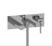 Riobel | WALL-MOUNT TYPE T/P (THERMO/PRESSURE BALANCE) COAXIAL TUB FILLER WITH HAND SHOWER