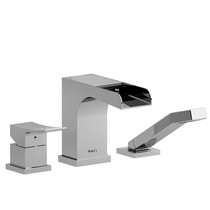 Riobel Zendo 3-Piece Deck-Mount Tub Filler Open Spout w/ Hand Shower
