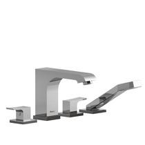 Riobel Zendo 4-Piece Deck-Mount Tub Filler w/ Hand Shower