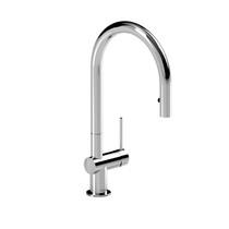 Riobel Azure Kitchen Faucet With Spray Chrome Finish