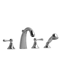 Riobel Classic Fidji 4-Piece Deck-Mount Tub Filler with Hand Shower Chrome
