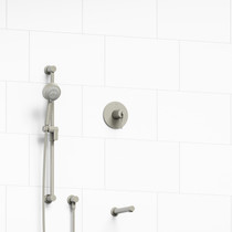 "Riobel CS 1/2"" 2-Way Type T/P Coaxial System with Spout and Hand Shower Rail Brushed Nickel"