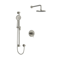 """Riobel CS Type T/P 1/2"""" Coaxial 2-Way System with Hand Shower and Shower Head Brushed Nickel"""