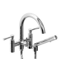"""Riobel edge 6"""" tub filler with hand shower"""