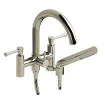 "Riobel Edge 6"" Tub Filler with Hand Shower Polished Nickel"