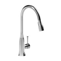 Riobel Edge Kitchen Faucet With Spray Chrome Finish