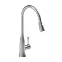 Riobel Edge Kitchen Faucet With Spray Stainless Steel Finish
