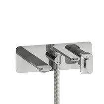 Riobel Equinox Wall Mount Typ T/P Thermo Pressure Balance Faucet with Handshower Chrome