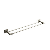 "Riobel KS 60 cm (24"") Double Towel Bar Brushed Nickel - KS6BN"