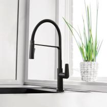 Riobel Mythic Kitchen Faucet with Spray Matte Black