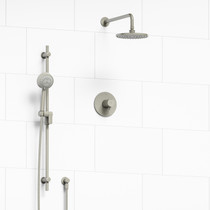 Riobel Pallace 2-way Thermostatic Shower System Brushed Nickel Finish