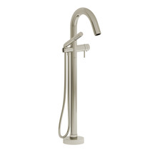 Riobel Pallace 2-Way Type T (Thermostatic) Coaxial Floor-Mount Tub Filler with Hand Shower Polished Nickel