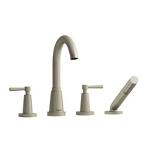 Riobel Pallace 4-Piece Deck-mount Tub Filler With Hand Shower Brushed Nickel Finish