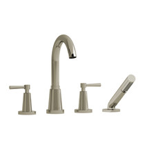 Riobel Pallace 4-Piece Deck-mount Tub Filler With Hand Shower Polished Nickel Finish
