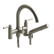"Riobel Pallace 6"" Tub Filler with Hand Shower Brushed Nickel"