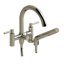"Riobel Pallace 6"" Tub Filler with Hand Shower Polished Nickel"