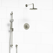 "Riobel Pallace Type T/P 1/2"" Coaxial 2-Way System with Hand Shower and Shower Head Polished Nickel"