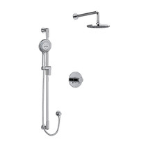 """Riobel Parabola Type T/P (Thermostatic/Pressure Balance) 1/2"""" Coaxial 2-Way System with Hand Shower and Shower Head Chrome"""