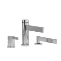 Riobel Paradox 3-Piece Deck-Mount Tub Filler with Hand Shower Chrome