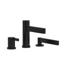 Riobel Paradox 3-Piece Deck-Mount Tub Filler with Hand Shower Matte Black